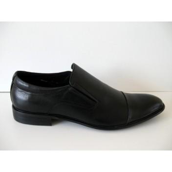 Juodi natūralios odos vyriški batai Mirco Cicioli