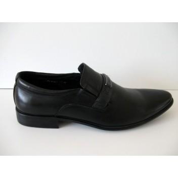 Juodi be raištelių odiniai klasikiniai batai Mirco Cicioli