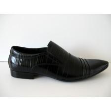 Juodi be raištelių natūralios odos klasikiniai batai Mirco Cicioli